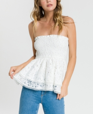 Endless Rose Tops STRAPLESS TUBE LACE TOP