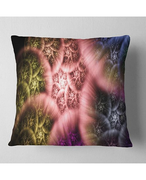 """Design Art Designart Biblical Sky With Multi Color Clouds Abstract Throw Pillow - 18"""" X 18"""""""