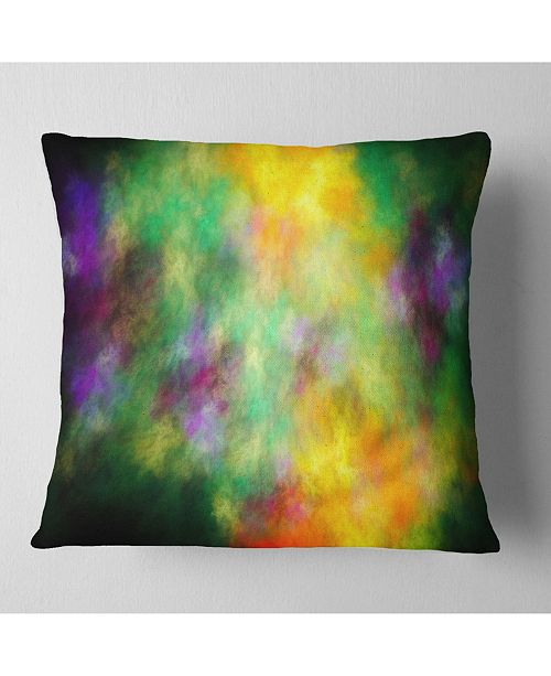"Design Art Designart Colorful Sky With Blur Stars Abstract Throw Pillow - 18"" X 18"""