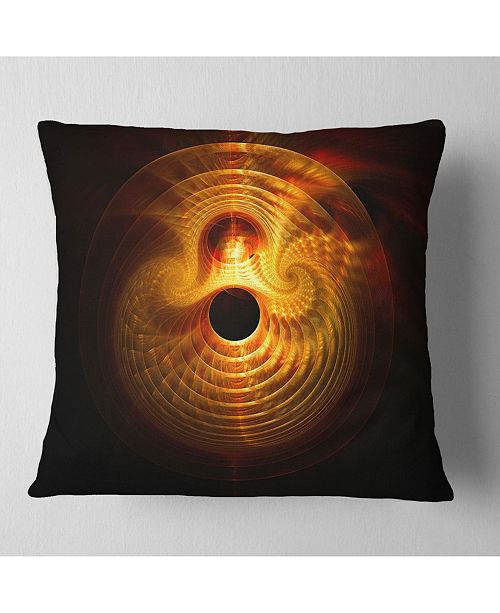 "Design Art Designart Bright Yellow Magical Lights Abstract Throw Pillow - 16"" X 16"""