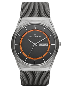 Skagen Watch, Men's Titanium Mesh Bracelet 40mm SKW6007