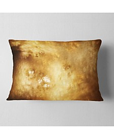 """Designart Perfect Brown Starry Sky Abstract Throw Pillow - 12"""" X 20"""""""