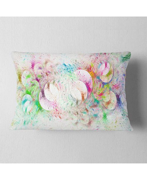 """Design Art Designart Snow Fractal Ornamental Glass Abstract Throw Pillow - 12"""" X 20"""""""