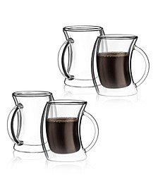 Caleo Double Wall Insulated Coffee Mugs, Set of 4