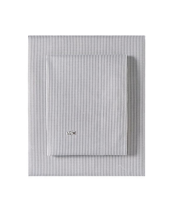 Lacoste Home Lacoste Pinstripes King Sheet Set