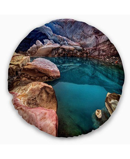Design Art Designart Deep Glacier Cave In Blue Landscape Printed Throw Pillow 20 Round Reviews Decorative Throw Pillows Bed Bath Macy S