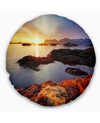 Design Art Designart Ocean Coast Nice Sunset In Norway
