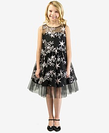 Little Girls Embroidered Stars Dress