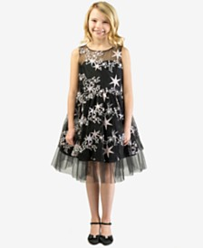Bonnie Jean Little Girls Embroidered Stars Dress