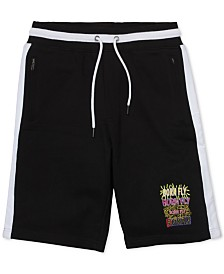 "Born Fly Men's Colorblocked Graffiti 13"" Shorts"