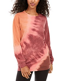Juniors' Tie-Dye Tunic Sweatshirt