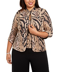 Plus Size Animal Print Twinset
