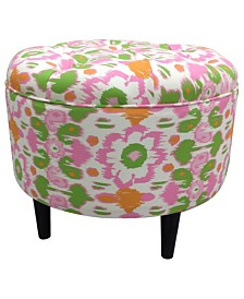 Sole Designs Daisy Upholstered Round Ottoman