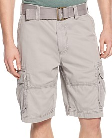 American Rag Men's Belted Relaxed Cargo Shorts, Created for Macy's
