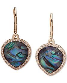 Gold-Tone Stone & Crystal Teardrop Drop Earrings