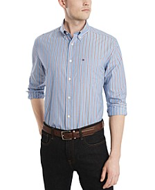 Men's Littleton Classic-Fit Stripe Shirt