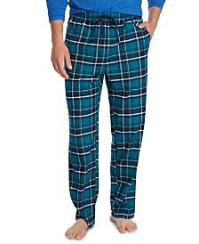 Nautica Men's Plaid Cozy Fleece Pants