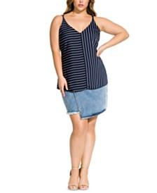 City Chic Trendy Plus Size Double Stripe Camisole