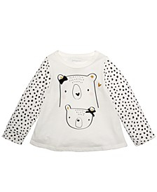 Toddler Girls Cotton Bears T-Shirt, Created For Macy's