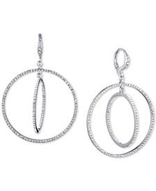 Crystal Pavé Orbital Drop Earrings