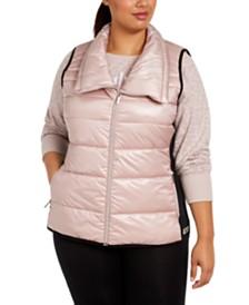 Calvin Klein Performance Plus Size Printed Puffer Vest