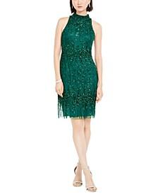 Petite Beaded Cocktail Dress
