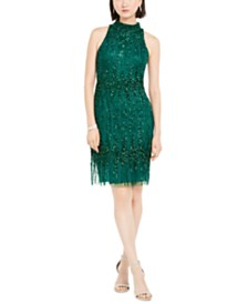 Adrianna Papell Petite Beaded Cocktail Dress