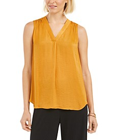 Satin V-Neck Tank Top, Created for Macy's