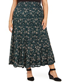 Plus Size Printed Maxi Skirt, Created For Macy's