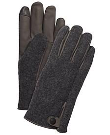 Men's Mixed-Media Gloves