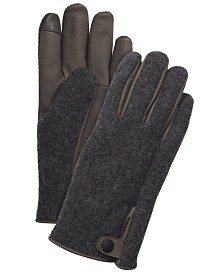 UGG® Men's Mixed-Media Gloves
