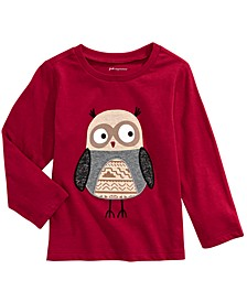 Toddler Boys Owl-Print Cotton T-Shirt, Created For Macy's