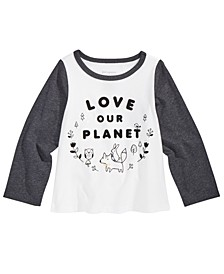 Toddler Girls Planet-Print Cotton T-Shirt, Created For Macy's