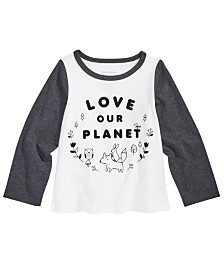 First Impressions Baby Girls Planet-Print Cotton T-Shirt, Created For Macy's