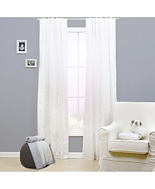 "The Peanutshell 42"" x 84"" Grey Triangle Print Blackout Curtain Set"