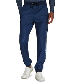 Tallia Men's Tapered Stretch Paisley Joggers