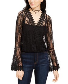 House of Polly Juniors' Bell-Sleeve Lace Top