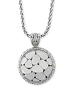 "EFFY® Crackle Stone-Look 17"" Pendant Necklace in Sterling Silver & 18k Gold"