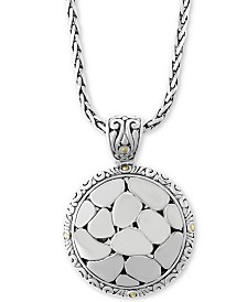 """EFFY® Crackle Stone-Look 17"""" Pendant Necklace in Sterling Silver & 18k Gold"""