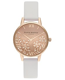 Olivia Burton Women's Blush Leather Strap Watch 30mm