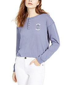 Juniors' Stitch Henley T-Shirt
