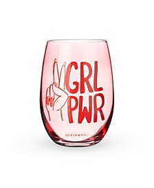 Girl Pwr Stemless Wine Glass