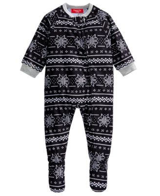 Matching Baby Ready Set Snow Footed Pajamas, Created For Macy's