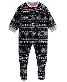 Matching Family Pajamas Baby Ready Set Snow Footed Pajamas, Created For Macy's