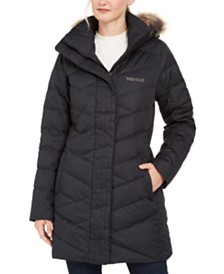 Marmot Strollbridge Hooded Faux-Fur-Trim Coat