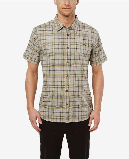 O'Neill Men's Static Plaid Short Sleeve Shirt