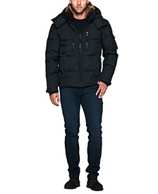 Men's Sierra Parka with Detachable Faux Rabbit Collar and Removable Hood