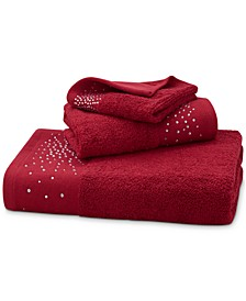 "CLOSEOUT! Rhinestone Starburst Cotton 28"" x 52"" Bath Towel"