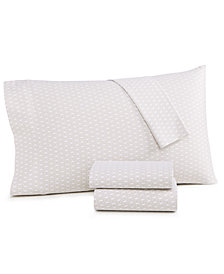 CLOSEOUT! Charter Club Damask Designs Diamond Geo Cotton 550-Thread Count 4-Pc. Queen Sheet Set, Created for Macy's