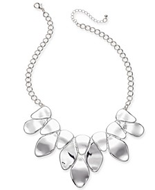 "Silver-Tone Sculptural Statement Necklace, 18"" + 3"" extender, Created For Macy's"